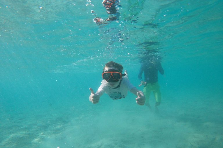 Even the young ones can enjoy turtle spotting at Aruba's west coast