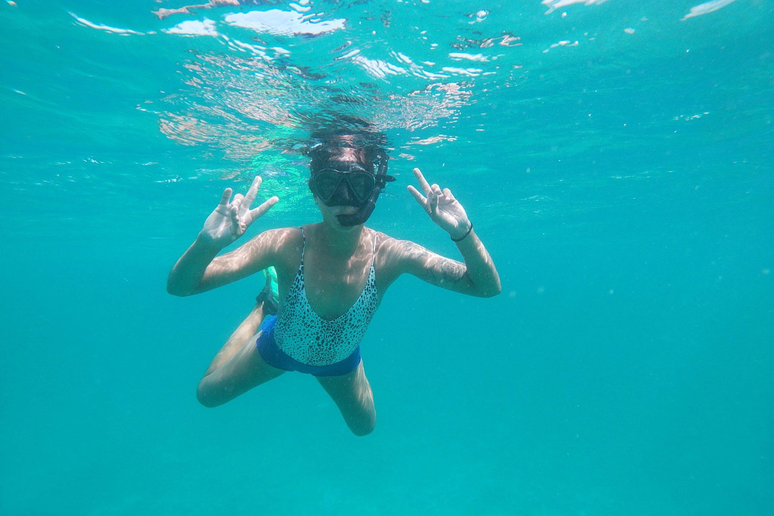 Snorkeling at Tres Trapi