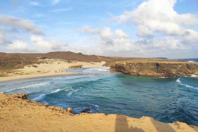 Spectacular bay at Aruba's north coast