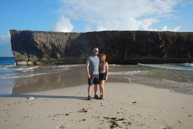Enjoying a beach along Aruba's north coast