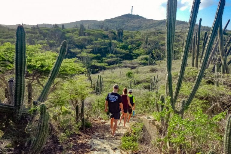 Hiking with a private guide to Aruba's highest point